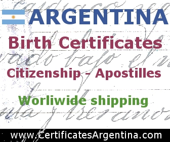 Get Birth, Marriage and Death certificates from Argentina